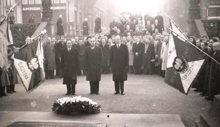 Commémoration à Bruxelles soldat inconnu 11/11/??