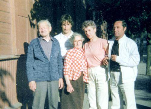 Photo de famille en été 1990
