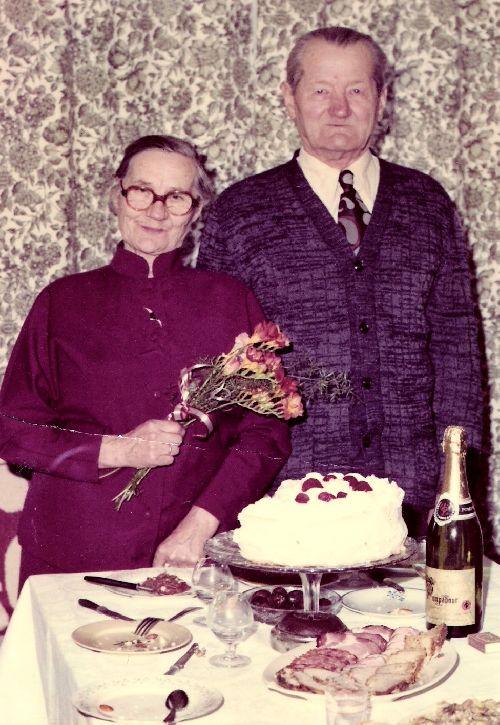 Le couple Sawicki à l'occasion des 60 ans de mariage