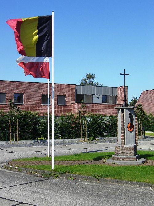 Vue avec les deux drapeaux