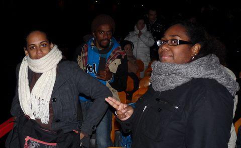Sandie, Damaris et Jonathan on the boat !