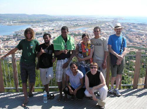 Photo de groupe (sans Ludo et Jimmy) en haut du Mont Saint-Clair