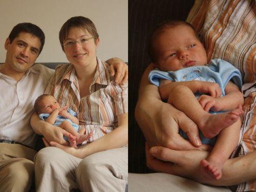 Timothée Adriel Marchand et ses parents