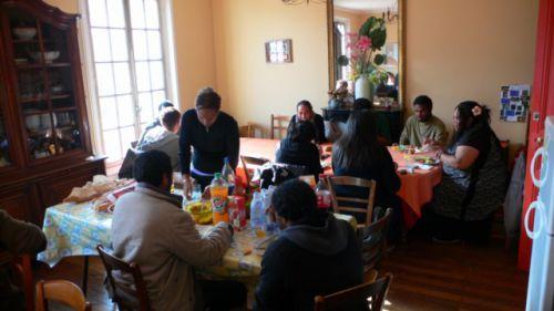 Un buffet pour démarrer la rencontre ABS de Paris