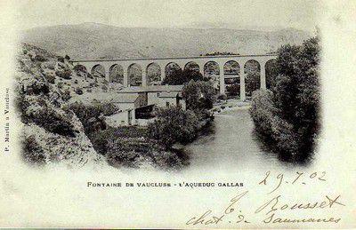 L'Aqueduc de Galas à Fontaine de Vaucluse