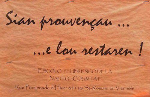 Affiche en Provençal