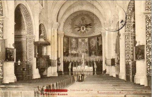 L'église Villes sur Auron.