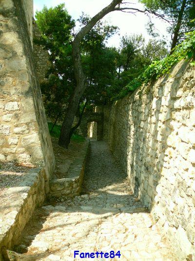 Ruelle pavé de la tour de l'Horloge à Pernes les Fontaines