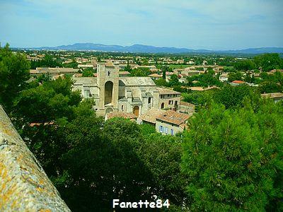 Vue de la tour de l'Horloge à Pernes les Fontaines