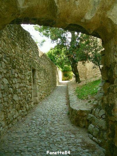 Rue en calade à Pernes les Fontaines