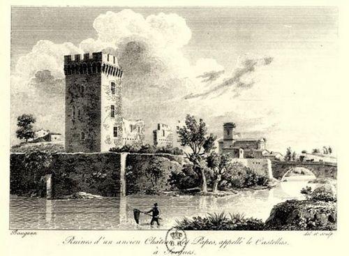 Ruines d'un ancien château des Papes à Sorgues