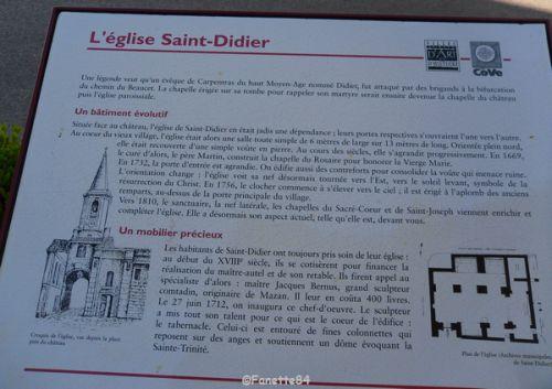 Plaque église à Saint Didier