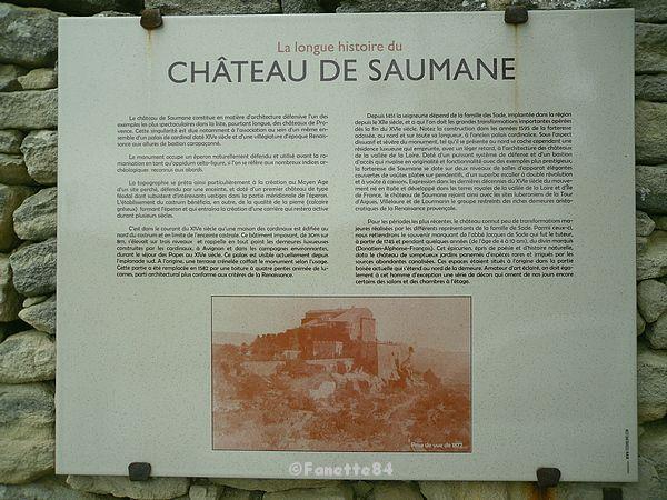 Explication du Château à Saumane