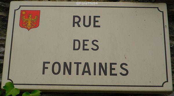 Plaque de rue à Saumane