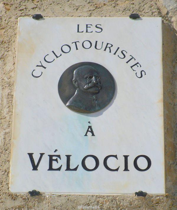 Plaque Vélocio Mont-Ventoux 2015