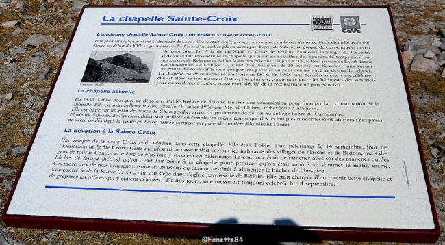 Explication chapelle Mont-Ventoux 2015