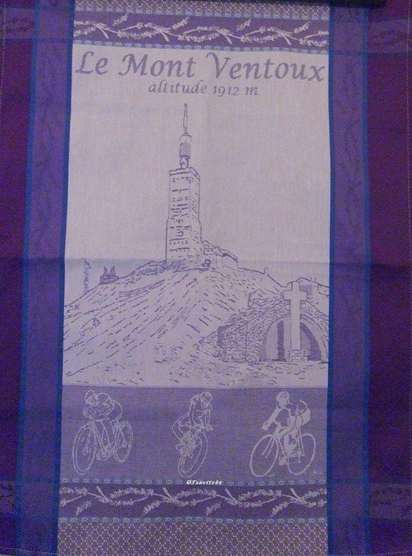 Torchon imprimé le Mont-Ventoux