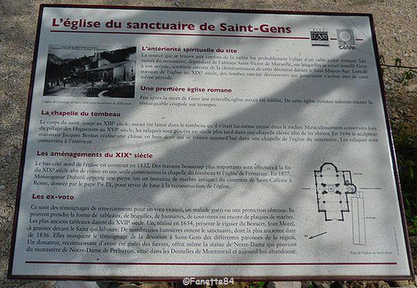 Explication de l'église à St Gens
