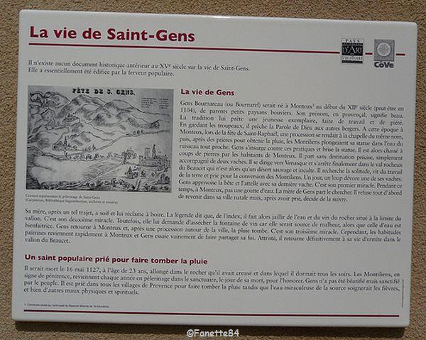 Explication de la vie de St Gens