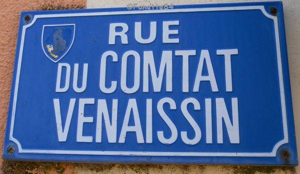 Panneau  rue du Comtat Venaissin.