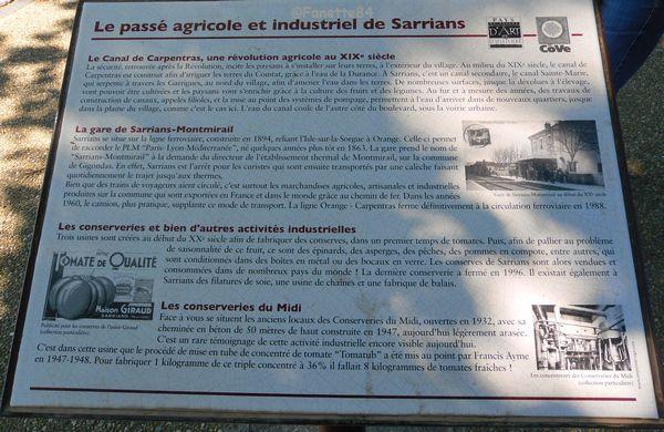 Panneau explicatif de Sarrians