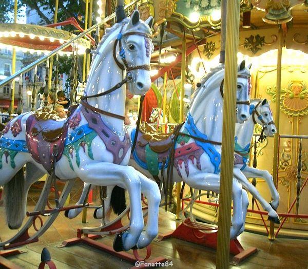 Avignon, chevaux de bois (carrousel)