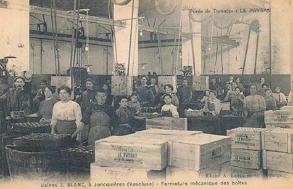 Usine J. Blanc à Jonquières