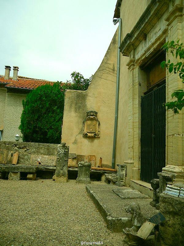 cour du Musée Camille Pautet à Mazan
