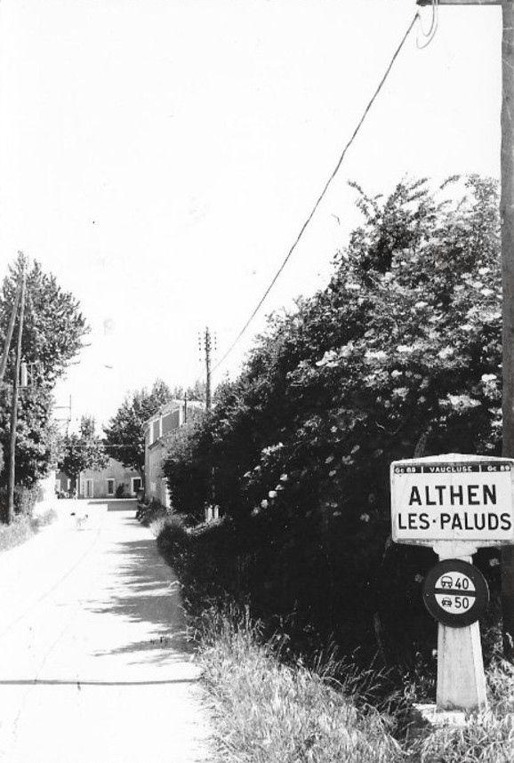 Panneau de la ville d'Althen les Paluds