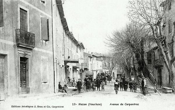 Avenue de Carpentras à Mazan