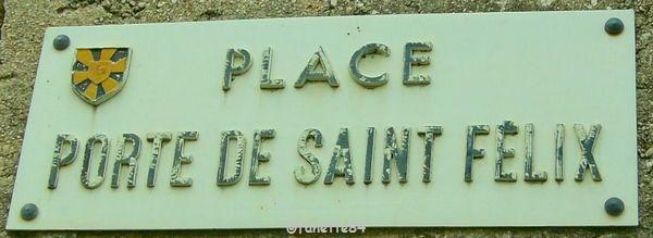 Plaque de rue, Porte de Saint Félix à Malemort Du Comtat
