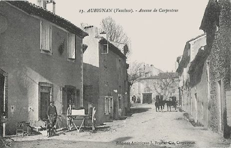 Avenue de Carpentras à Aubignan