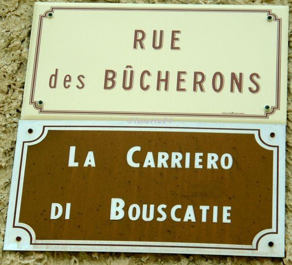 Plaque Rue des bucherons à Méthamis