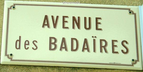Plaque Avenue des Badaïres à Méthamis