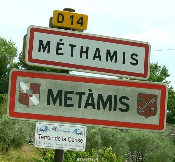 Panneau de la ville Méthamis