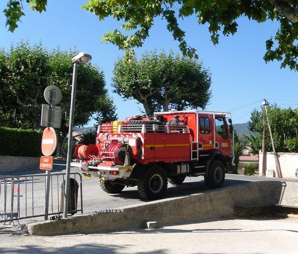 Camion de pompier à Bédoin