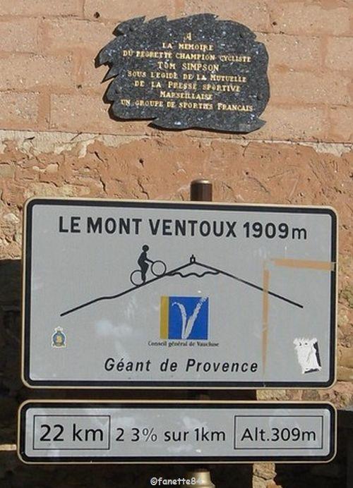 Panneau Mont-Ventoux à Bédoin
