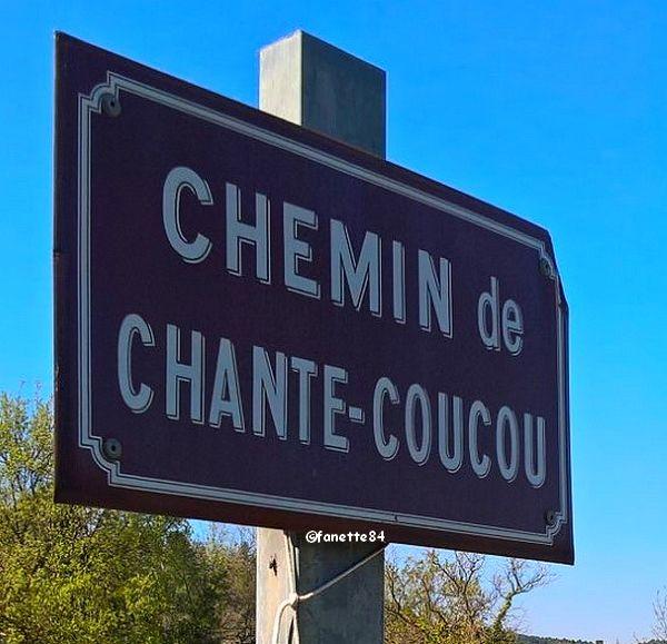 Panneau du chemin Chante Coucou