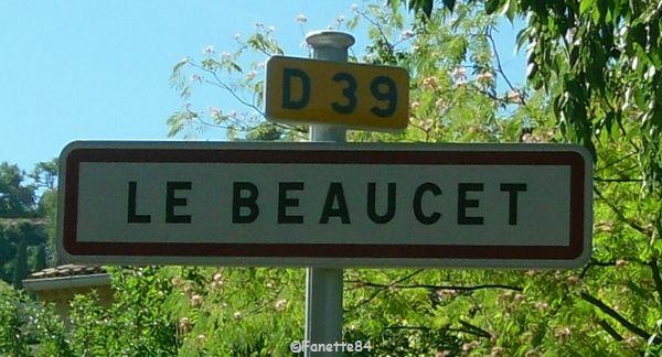 Panneau de la ville Le Beaucet