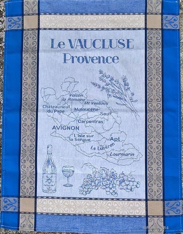Torchon imprimé Vaucluse