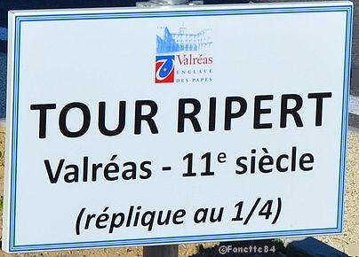 Plaque du nom de la Tour Rippert