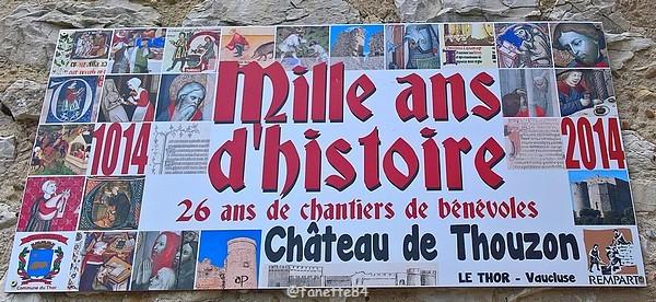 Mille ans d'histoire, château de Thouzon au Thor