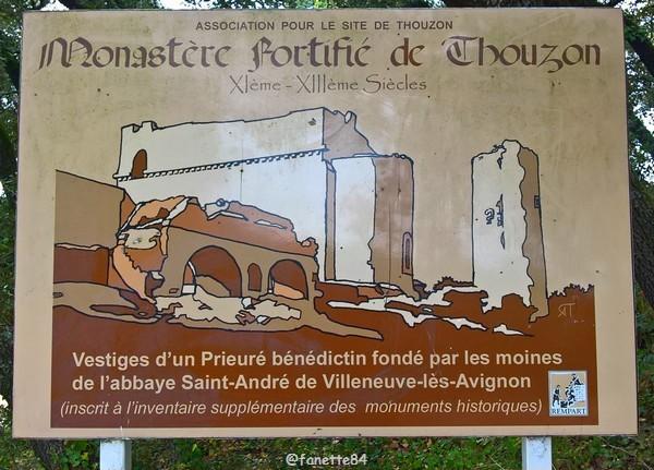 Panneau château de Thouzon au Thor