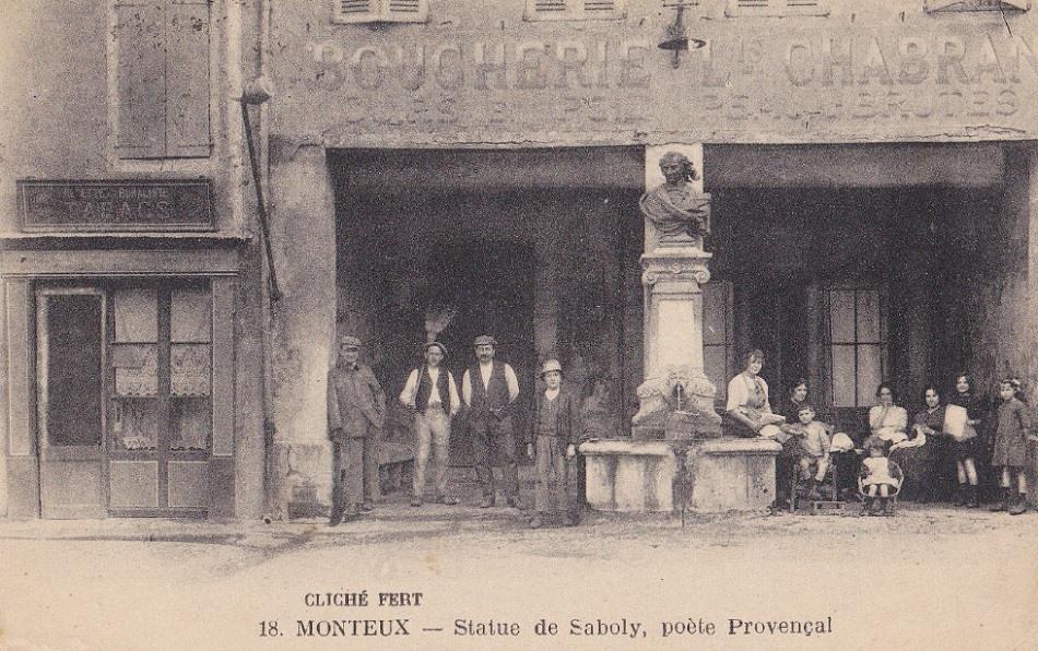 Statue de Saboly à Monteux