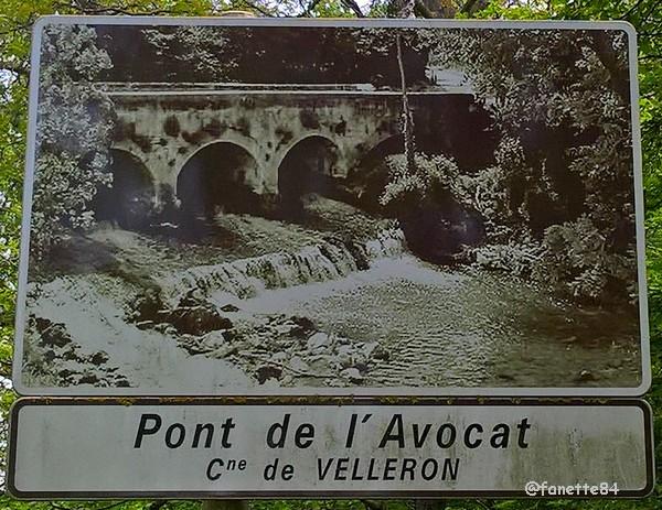 Panneau du pont de l'Avocat