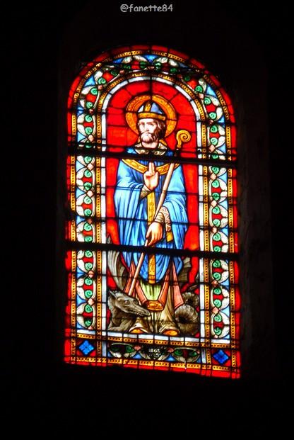 Vitrail de Saint Véran à Fontaine de Vaucluse