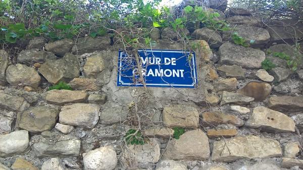 Plaque du mur de Gramont