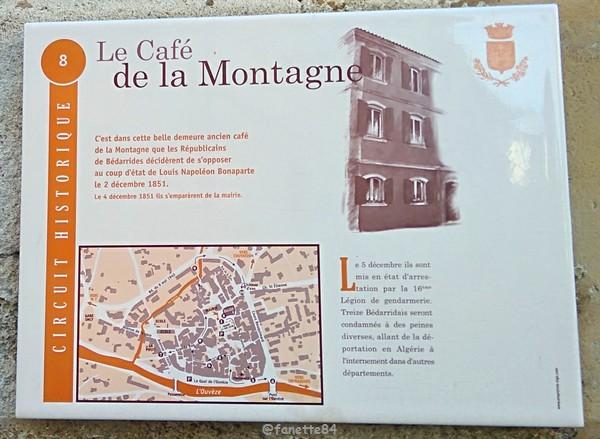 Le Café de la Montagne à Bédarrides