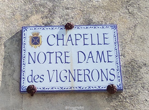 Chapelle Notre-Dame-des-Vignerons à Rasteau