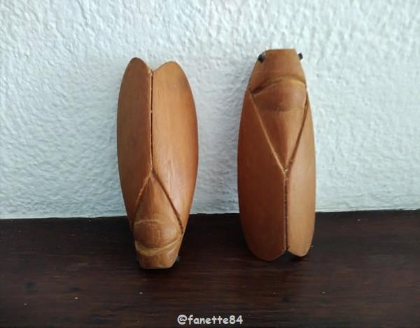 cigales en bois